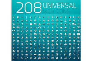 Mega collection of 208 universal web icons