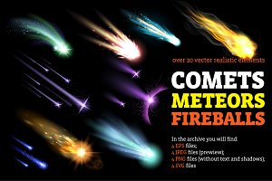Comets Meteors and Fireballs