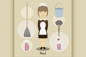 Young beautiful maid