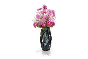 Bouquet of pink flower in vase