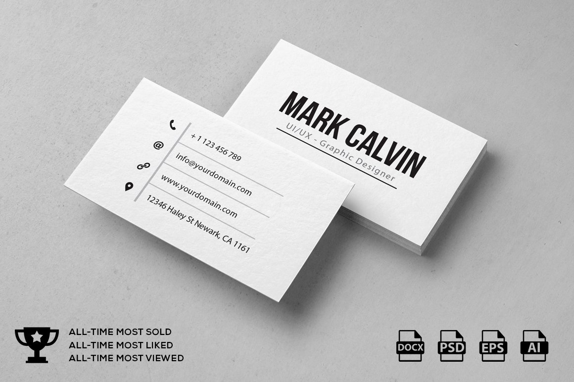 Simple Individual Business Card ~ Business Card Templates ...