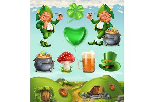 Feast of Saint Patrick. Vector