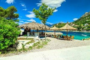 Outdoor tropical beach bar