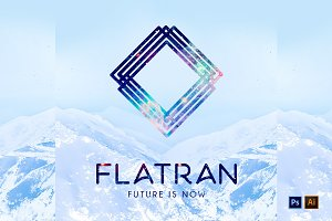 Abstract Flatran Futuristic Logo