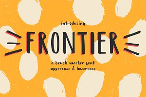Frontier - a brush marker font