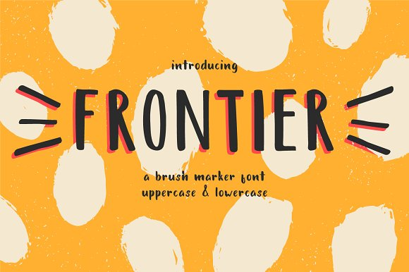 Frontier A Brush Marker Font