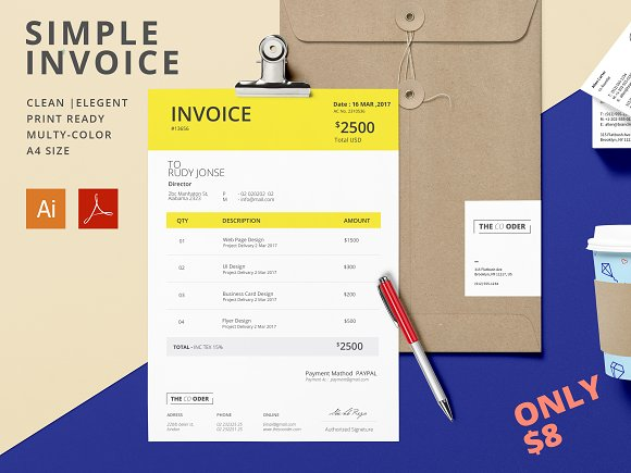 Simple Invoice Invoice Template