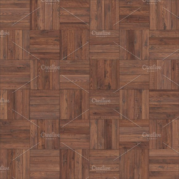 Seamless Wood Parquet Texture Chess Brown