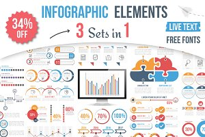 Infographic Elements - 3 Sets in 1