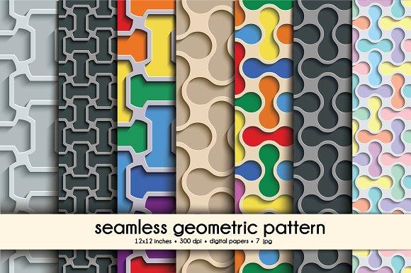 Geometric Pattern Digital Papers