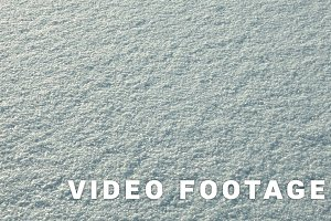 Snow on the frozen lake. Clean and frosty daytime. Smooth dolly shot