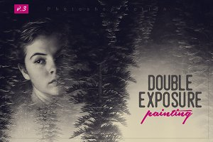 Double Exposure Painting Action