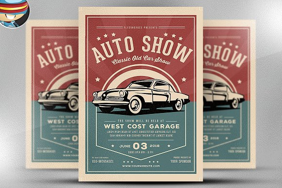 Old Classic Car Show Flyer Template Flyer Templates on Creative – Car Show Flyer Template