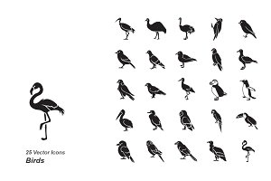 Birds vector icons