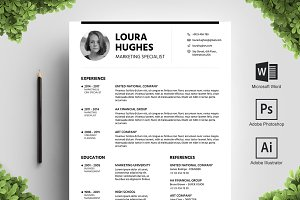 Blackline Resume Template