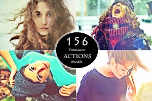 (90%off) 156 PS Actions Bundle