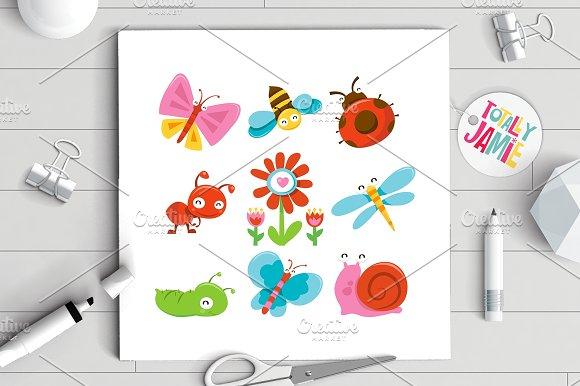 Happy Sweet Garden Bugs Set