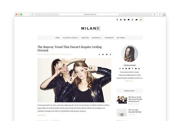 Milano - Wordpress blog theme