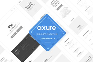 Axure responsive corporate template