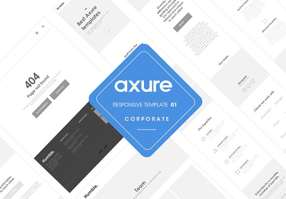 Axure responsive corporate template ~ Website Templates ~ Creative ...