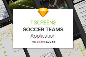 Soccer Teams - Sketch app UI