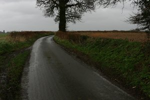 Dull afternoon on country Road