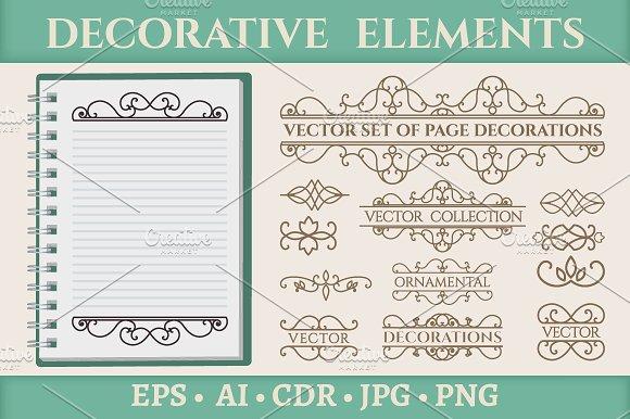 13 Vintage Page Decoration Elements