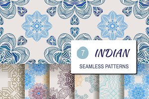 7 indian seamless patterns