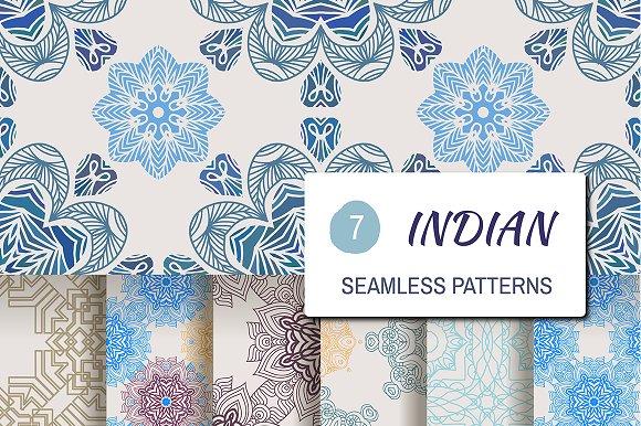 7 Indian Seamless Patterns