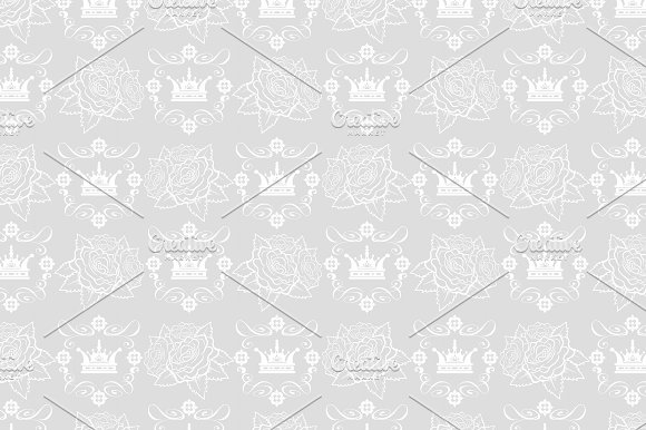 Crown With Roses Pattern