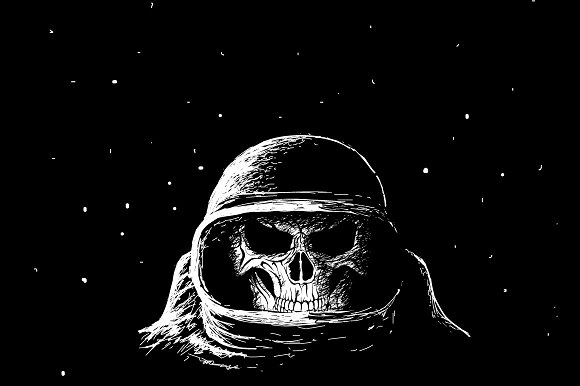 Skull Astronaut In Outer Space