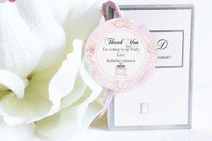 Parfum party thank you circle tag