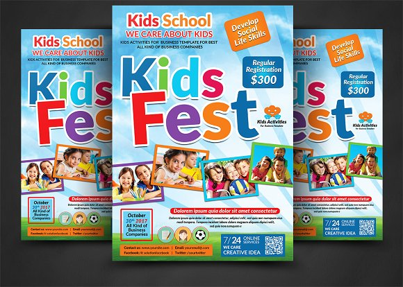 kids summer camp flyer flyers