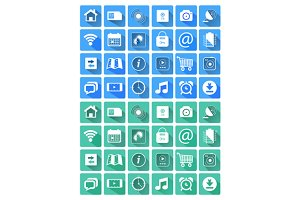 Set flat icons for web and mobile ap