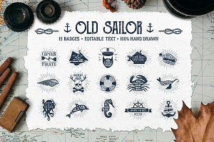 Old Sailor (Vintage Badges/part1)