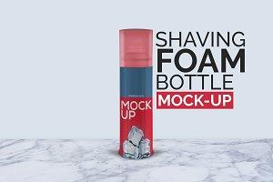 Shaving Foam Bottle Mock-Up