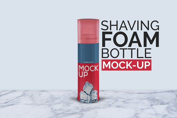 Shaving Foam Bottle Mock-Up