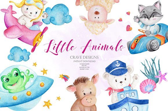 Little Animals Clip Art