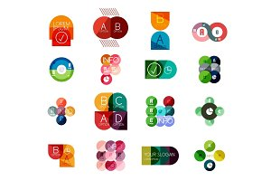 Set of circle business infographic templates