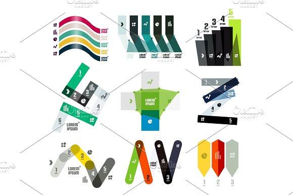 Set Of Vector Line Or Stripe Shaped Option Infographic Design Templates