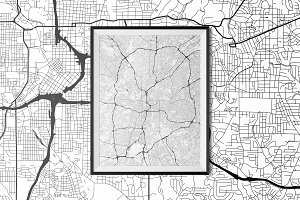 Atlanta - Fully Vectored Road Map