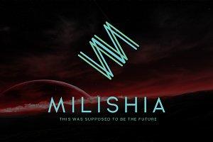 Milishia Futuristic Logo
