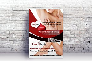 Flyer Beauty Wellness Spa Broschüre