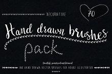 Hand drawn brushes pack