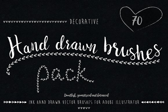 Hand Drawn Brushes Pack