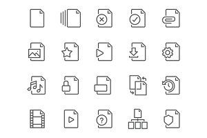 Line File Icons