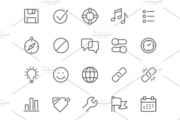 Line Interface Icons