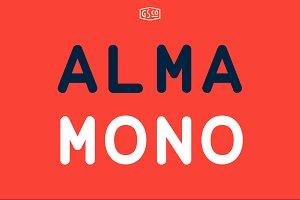 Alma Mono - A monospaced sans serif