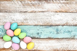Easter decoration Pastel colored egg