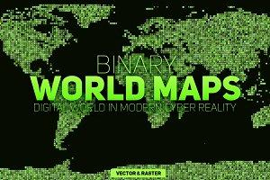 5 Binary World Maps